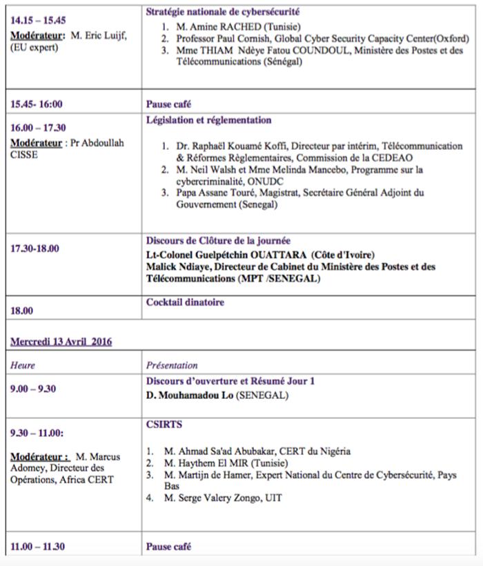 Conférence Cybersecurite Agenda 2